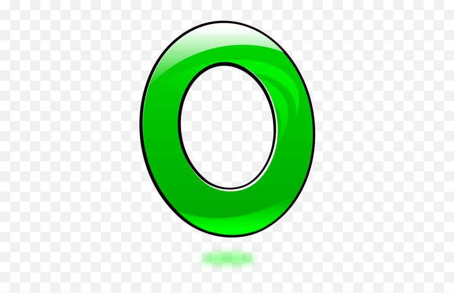 Vector Image Of Glossy Number Zero - Green Zero Emoji