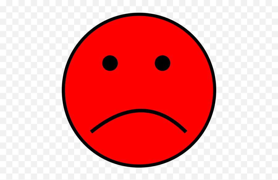 Sad Red Emoji - Smiley