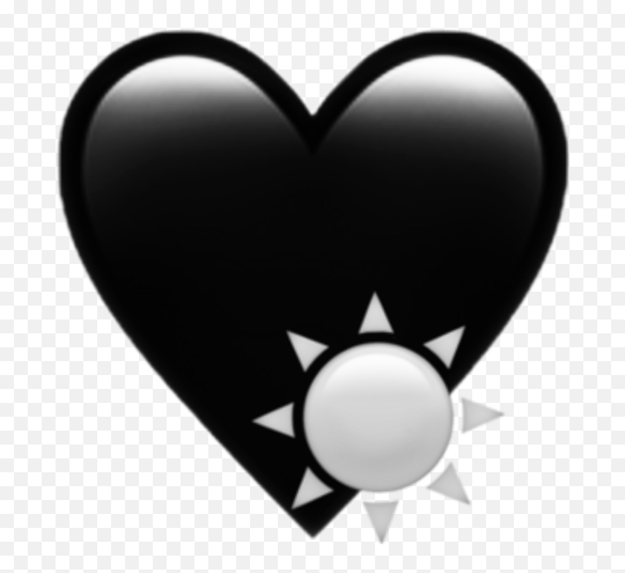 emoji aesthetic tumblr goth black gray iphone - Heart