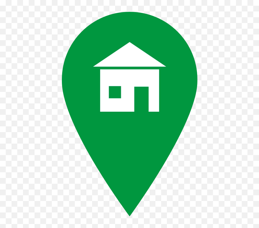 Download Free Png Green Home Icon - House Marker Icon Png Emoji