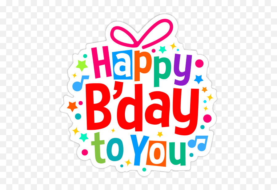 Happy Birthday Stickers Facebook Copy Paste Stickers - Happy Birthday Sticker Whatsapp Emoji,Happy Birthday Emoji Texts