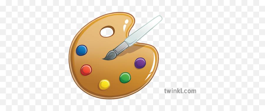 Newsroom Emoji Art Paint Entertainment Ks2 Illustration - Circle