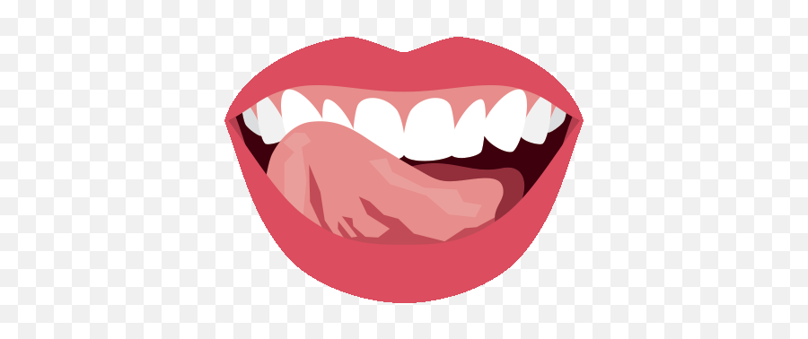 Biting Lips Transparent Png Clipart - Mouth Tongue Sticking Out Png Emoji