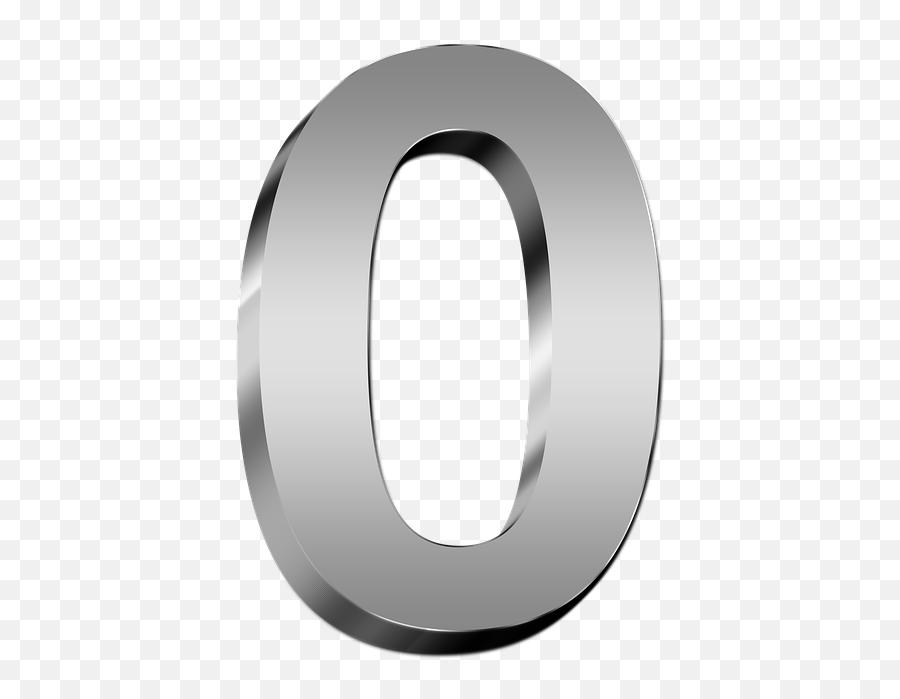 Zero Nil Number - White 3d Numbers Png Emoji