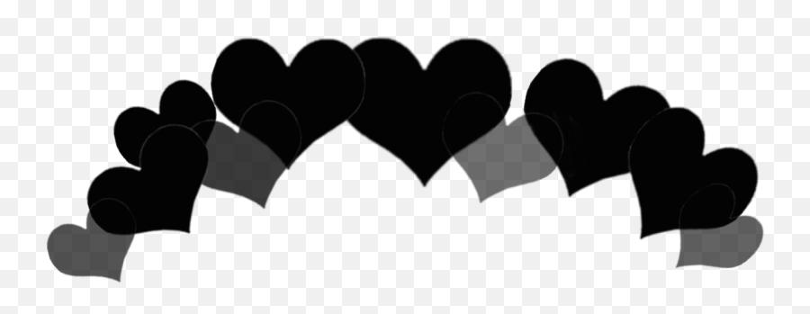 crownemoji emoji heaths crownhearts black blackheart - Illustration