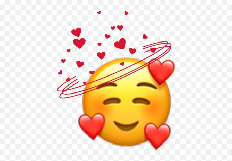 freetoedit love emojis emoji emoji imojis hearts heart - Emoji Heart Face Png