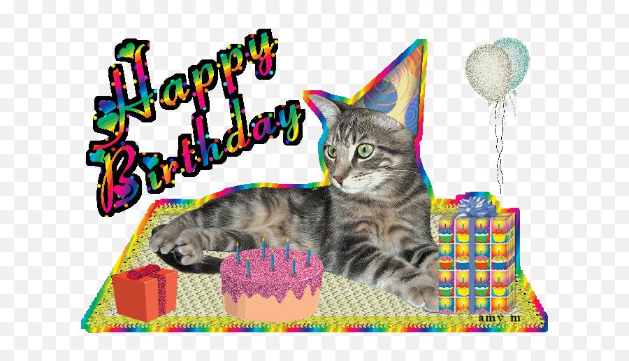Cute Happy Birthday Gifs Funny Bday Animated Pictures - Cute Cat Happy Birthday Gif Emoji