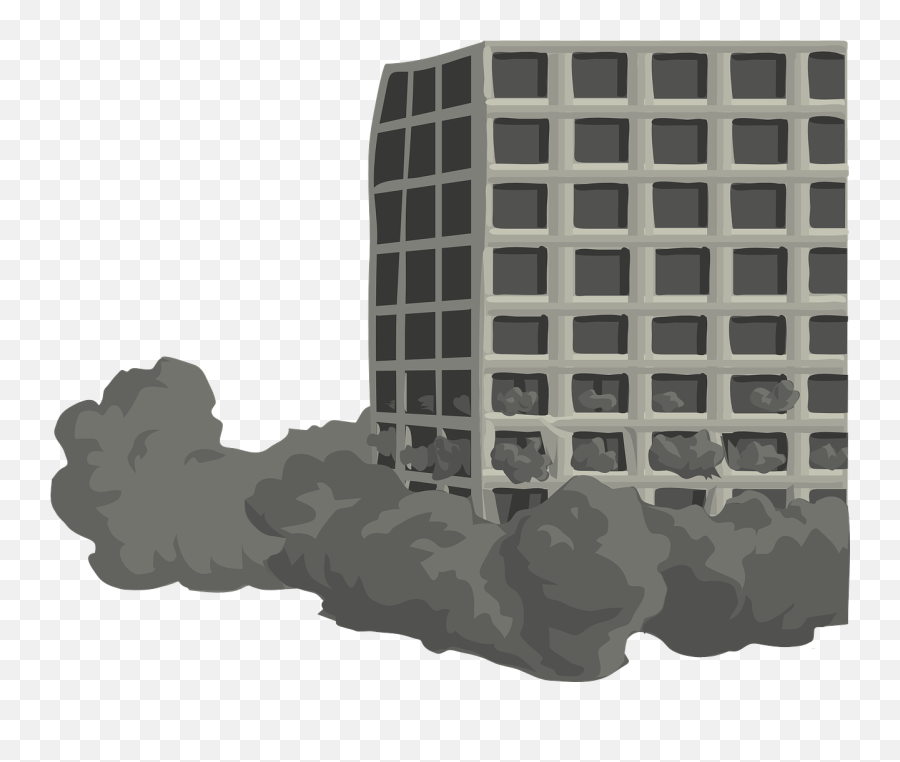 Building Tower Torn Down Destroy - Building Falling Png Emoji,Is There An Eiffel Tower Emoji