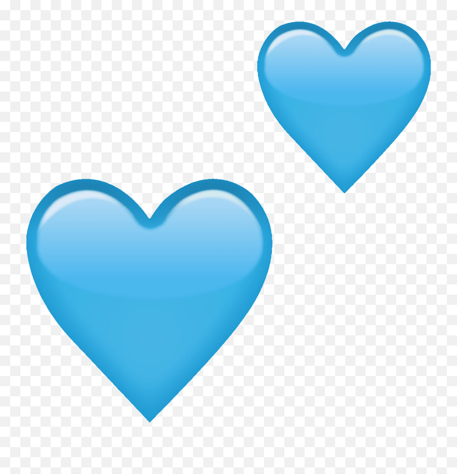 Heart Emoji Blueheart Blue Heartemoji Freetoedit - Pastel Blue Emoji Heart
