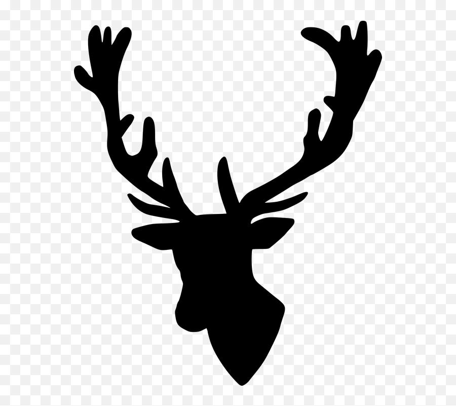 Silhouette Stag Deer - Elk Emoji,Deer Hunting Emoji