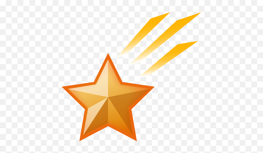 Shooting Star Emoji For Facebook Email Sms - Transparent Background Clipart Shooting Stars