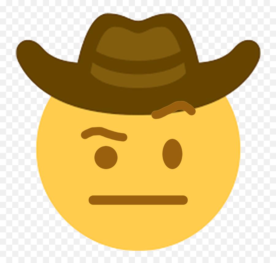 Discord Emoji - Sad Cowboy Emoji Transparent,Open Eye Crying Laughing Emoji