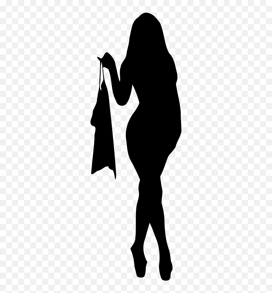 Sexy woman silhouette high