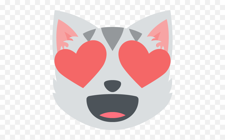 Smiling Cat Face Heart Shaped Eyes Emoji Vector Icon - Cat Heart Face Emoji,Cat Emoji