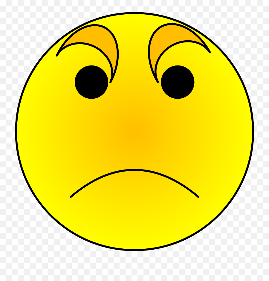 Smiley Anger Emoticon Clip Art - Smiley Emoji