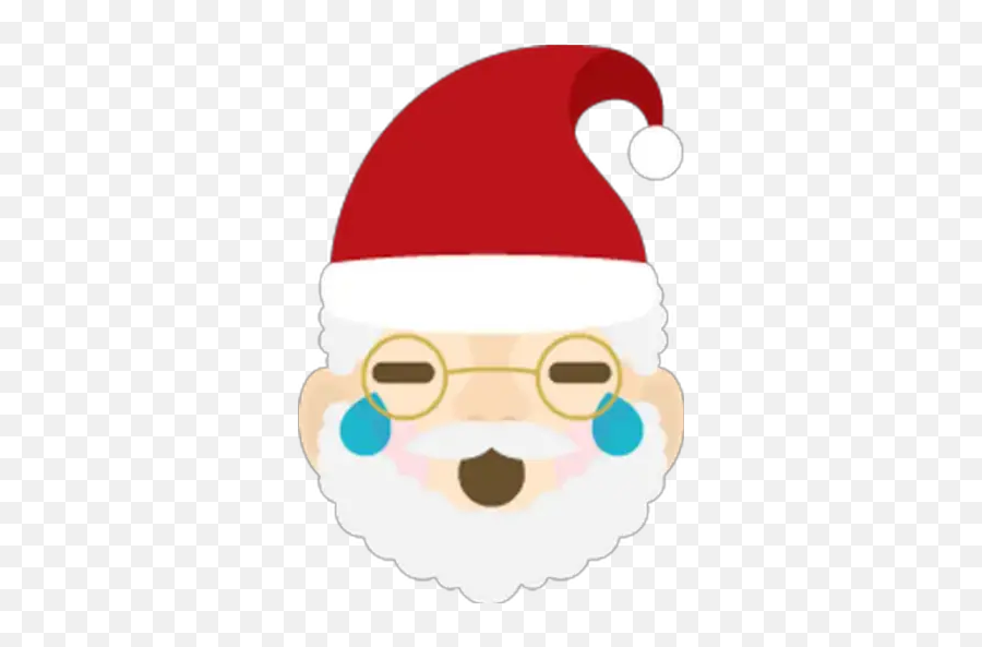 Emoji Santa Stickers For Whatsapp - Santa Claus,Where Is The Santa Emoji