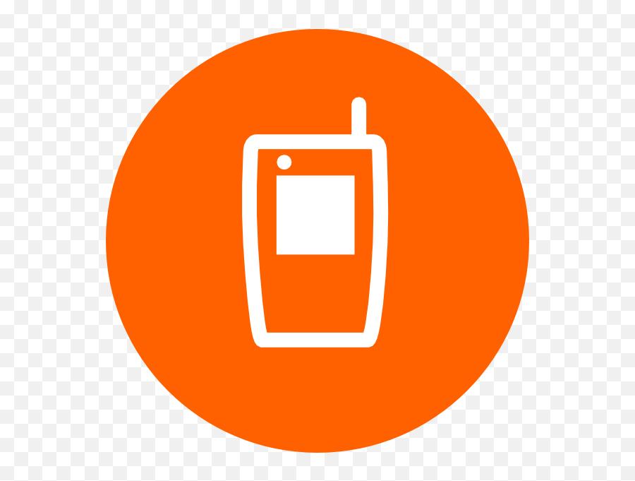 Orange Clipart Cell Phone Orange Cell Phone Transparent - Mobile Phone Emoji,Cell Phone Emoji