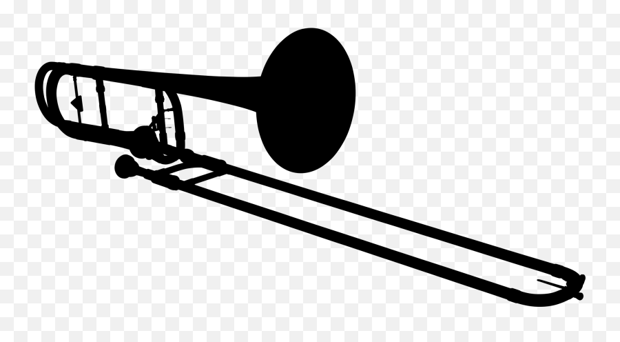 Trombone Silhouette - Trombone Clipart Black And White Emoji