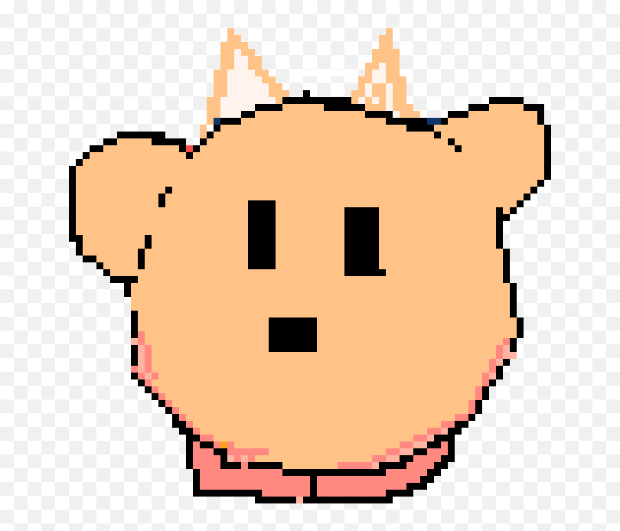 Fox Kirby Pixel Art Maker - Cute Bear Pixel Art Emoji,Fox Emoticon