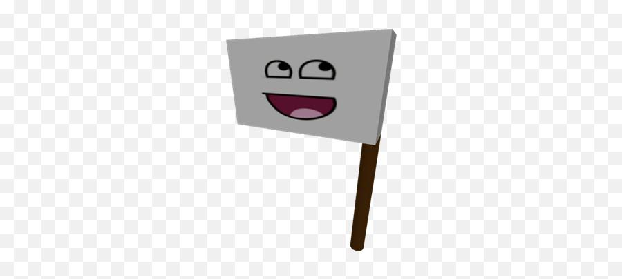 Bamdera Con Carita Feliz - Roblox Sign Emoji,Emoticon Feliz