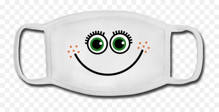 Joyful Funny Face - Youth Face Mask Happy Emoji,Funny Face Emoticon