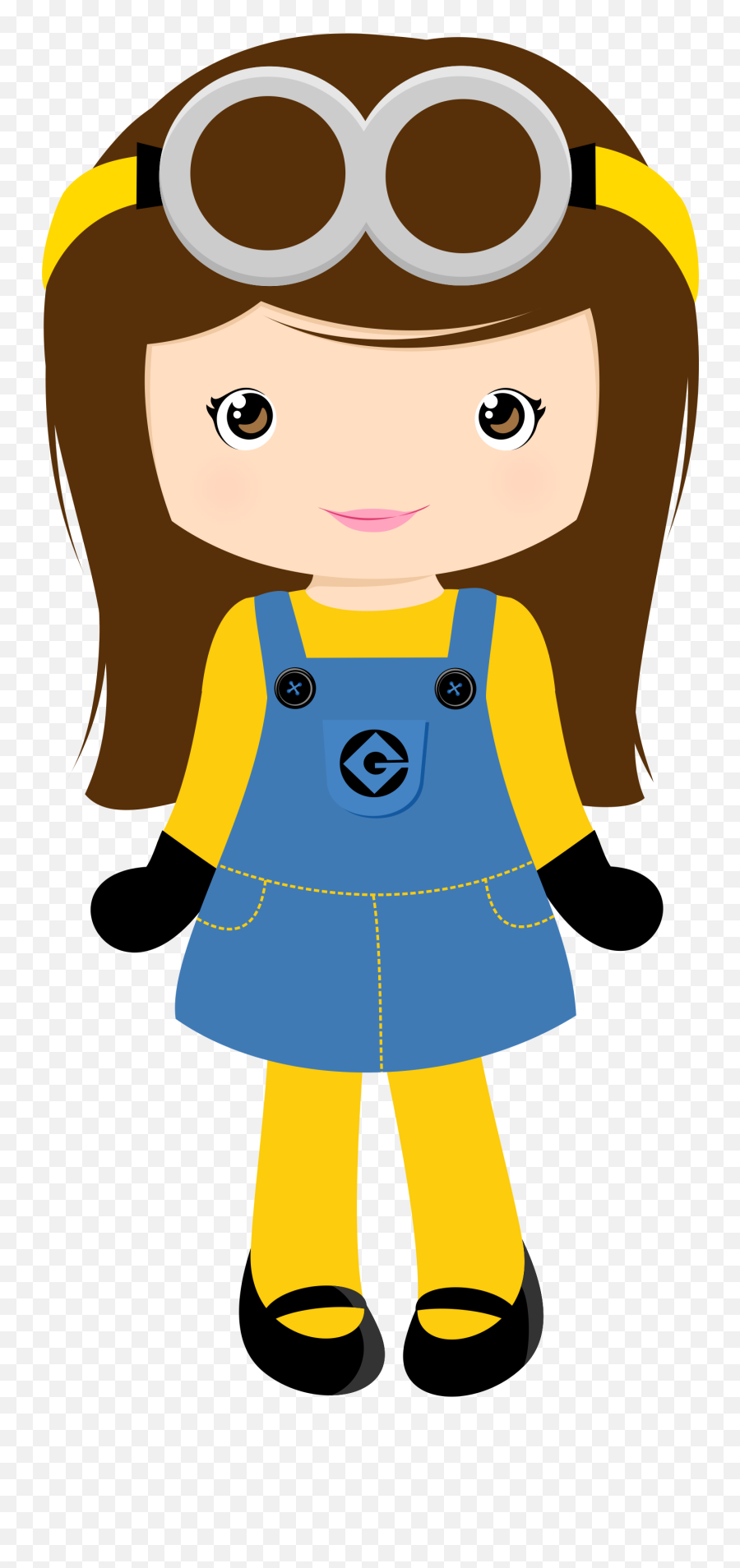 Girl Minion Clipart Png - Menina Minion Png Emoji,Minion Emoticons For Iphone