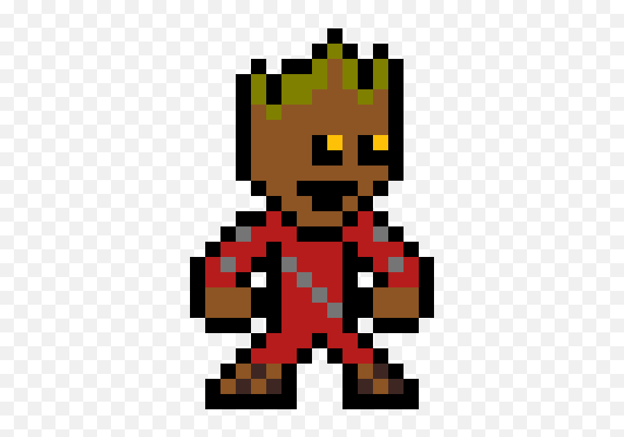 Pixilart - Pixel Art Spiderman Civil War Emoji,Groot Emoji
