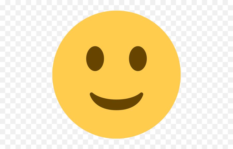 From A - Twitter Slight Smile Emoji