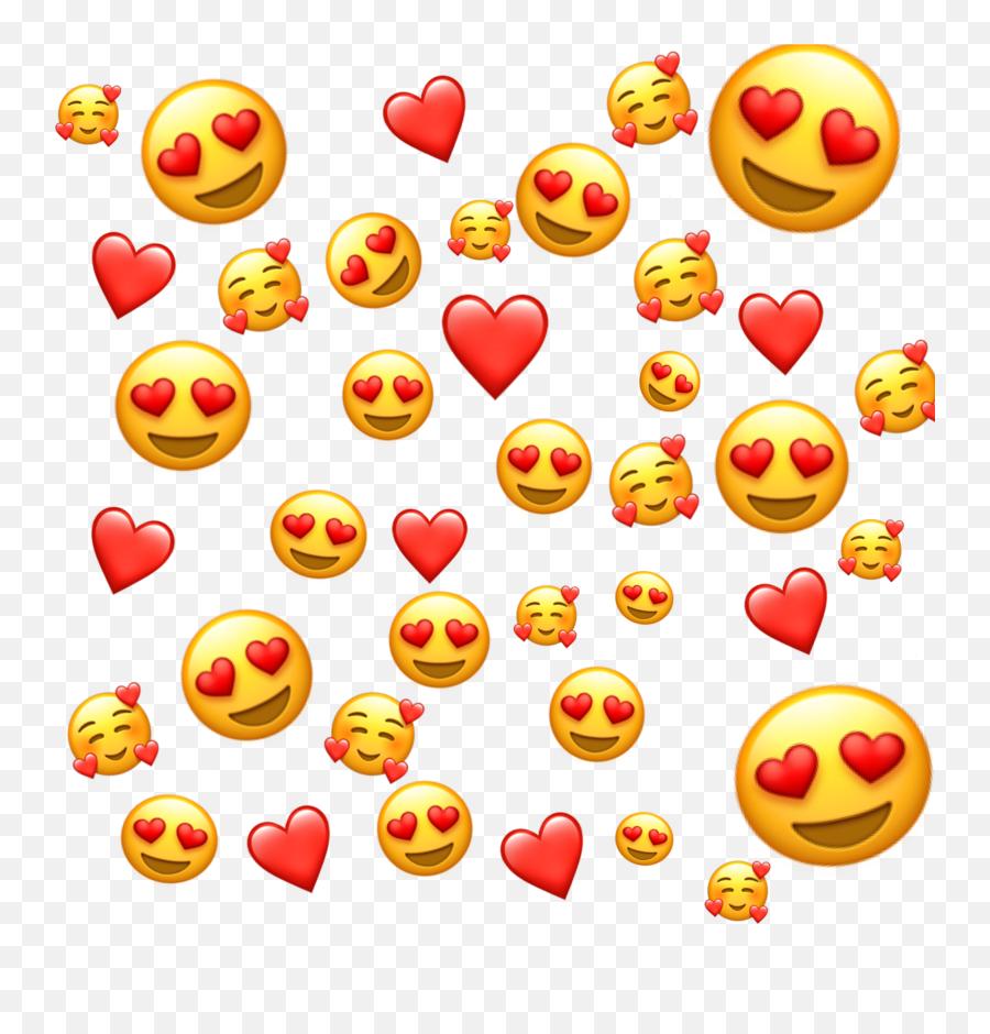 Emojis Emoji Love Inlove Background - Love Picsart Mentahan Background,Back Emoji