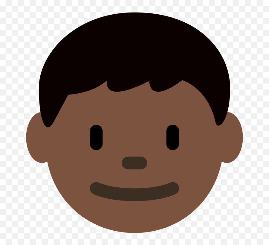 Twemoji2 1f466 - Dark Skin Boy Cartoon Emoji