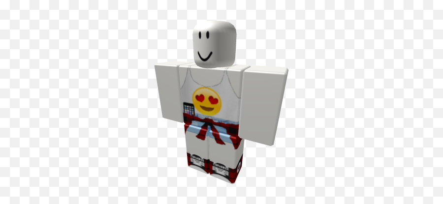 Emoji Face Shirt With Pants And A Cell Phone - Chara Roblox Pants,Cell Phone Emoji