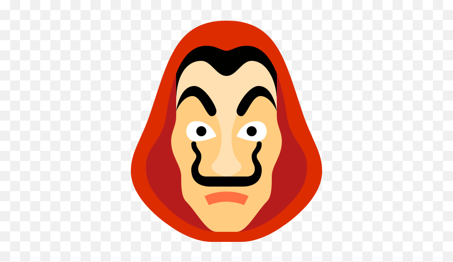 Money Heist Dali Icon - Free Download Png And Vector Money Heist Mask Png Emoji,Money Face Emoji