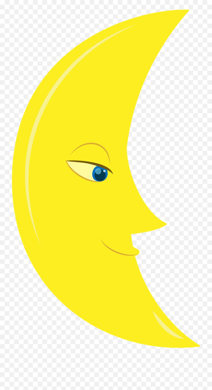 Moon Face Clipart Free Download Transparent Png Creazilla - Happy Emoji,Half Smile Emoji
