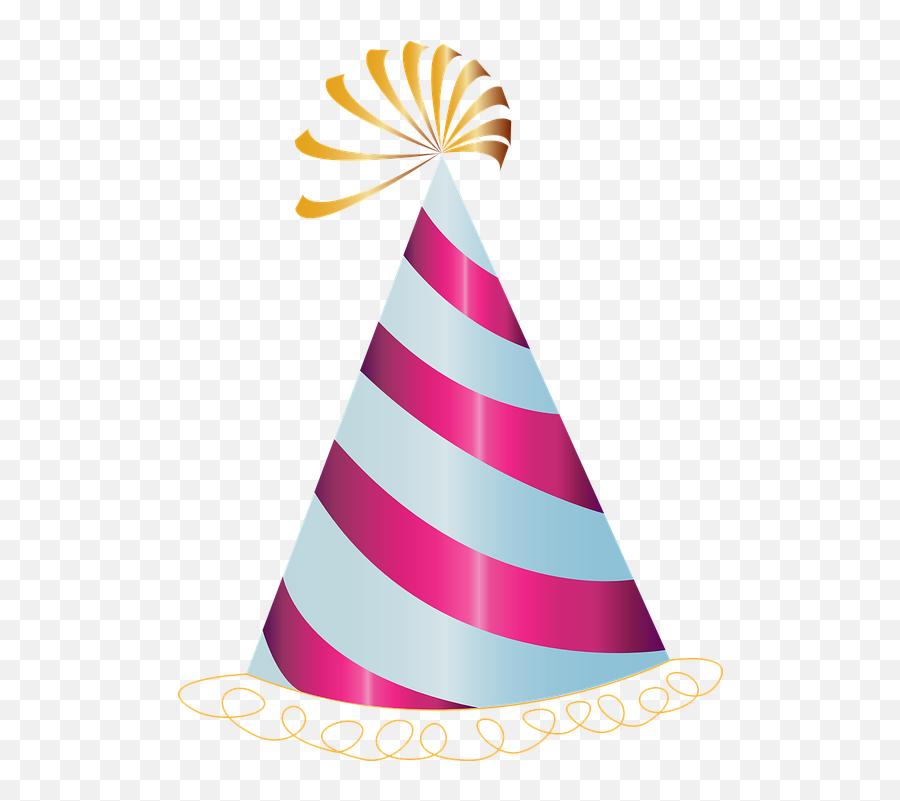 Happy - Transparent Background Birthday Hat Emoji
