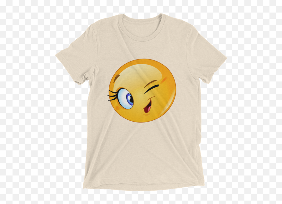 Female Emoji Winking Tshirt Funny Smiley Face Short Sleeve Womenu0027s T - Shirt Vw Phaeton T Shirt,Funny Smile Emoji