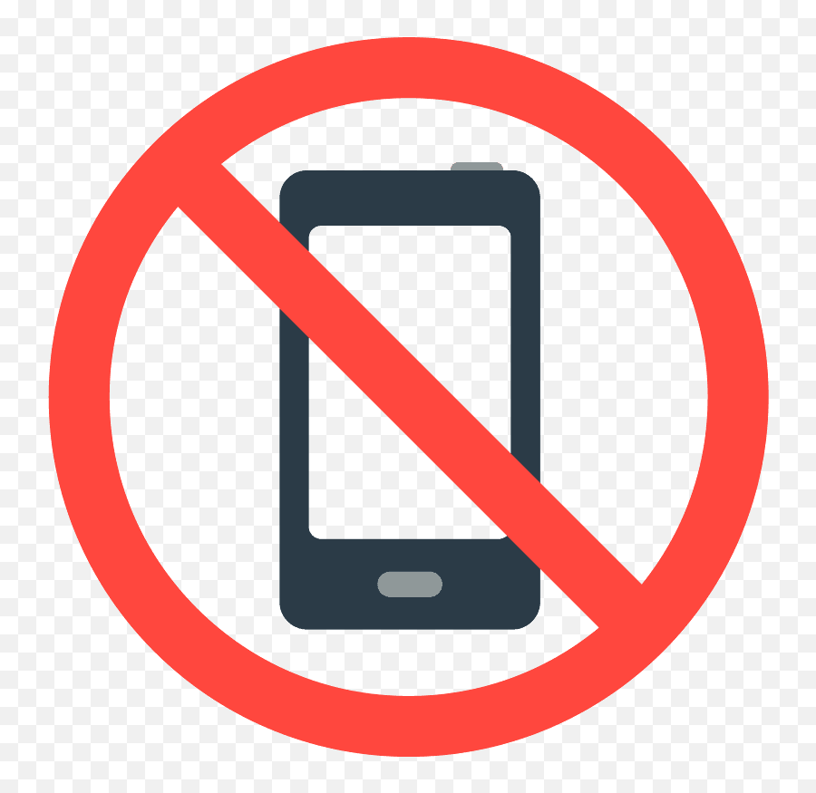 No Mobile Phones Emoji Clipart - No Cell Phone Allowed Sign,Cell Phone Emoji