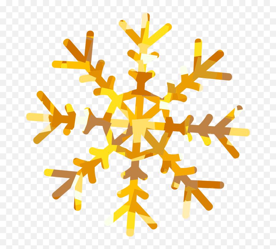 Clipart Snowflake Yellow Transparent - Gold Transparent Background Snowflake Png Clipart Emoji,Snowflake Sun Leaf Leaf Emoji