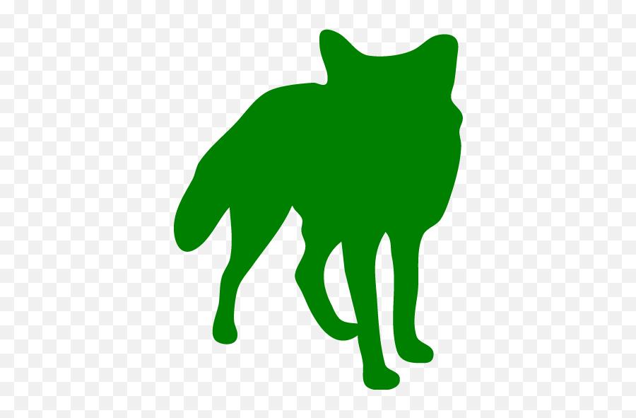 Green Fox Icon - Free Green Animal Icons Arctic Fox Silhouette Emoji,Fox Emoticon
