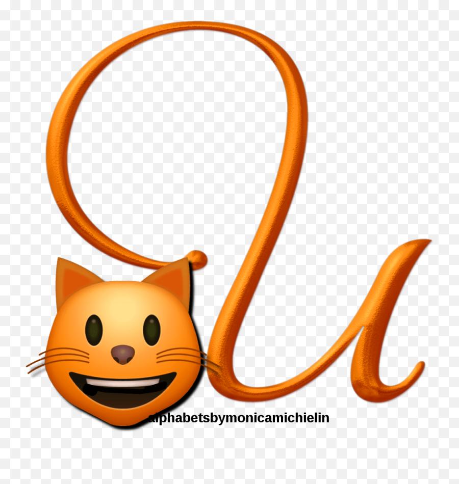 Monica Michielin Alphabets Cat Emoticon Emoji Alphabet Png - Happy,Cat Emoticon Facebook