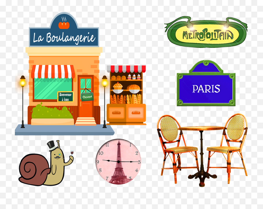 French Bakery Paris Table And - Plaque De Rue Paris Emoji,Is There An Eiffel Tower Emoji