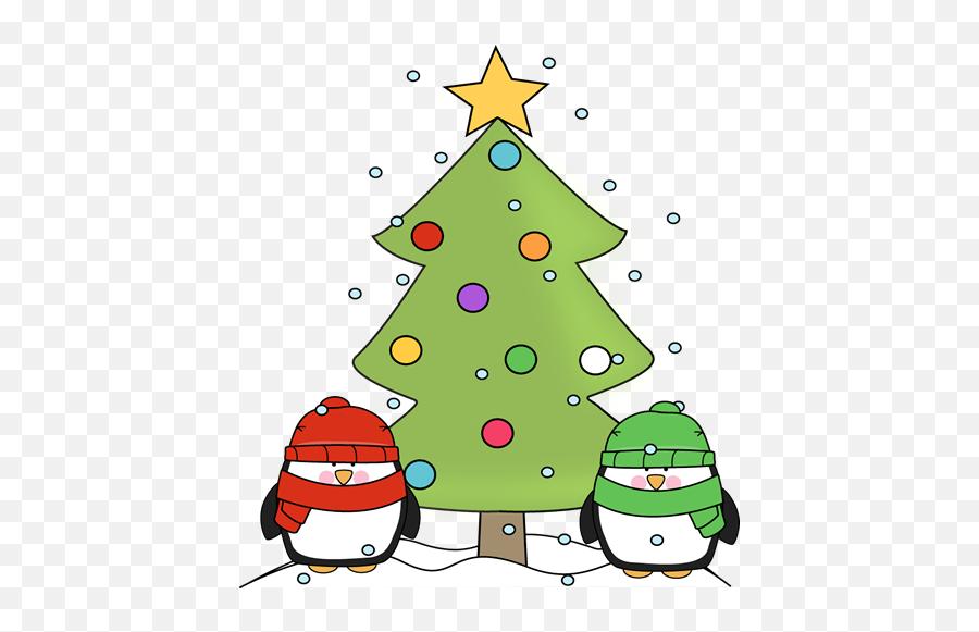 Christmas Penguins - Cute Clip Art Christmas Emoji,Christmas Tree Emojis