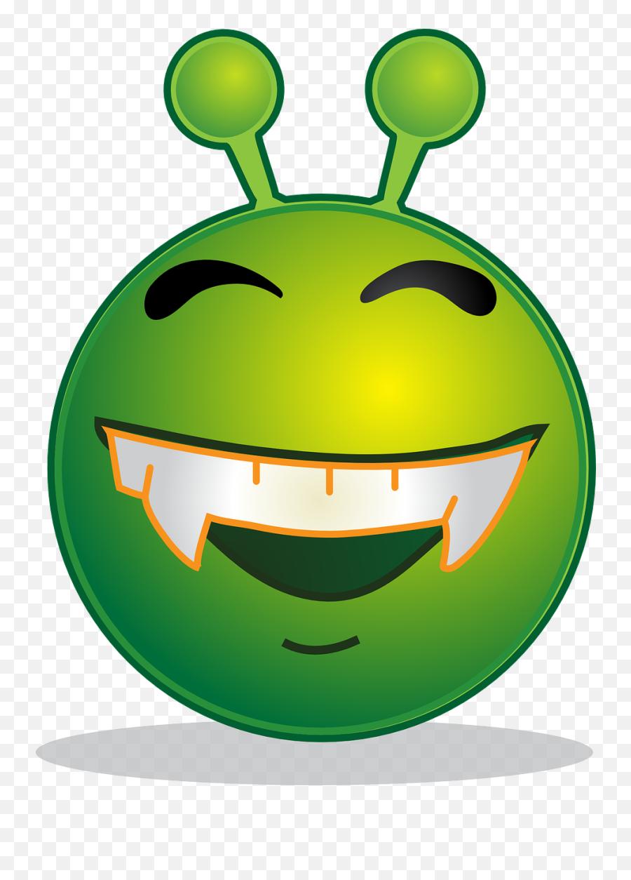 Alien Smiley Emoji Emotion Emoticon - Smiley Green Alien,Joy Emoji