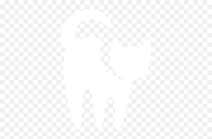 White Cat Icon - Free White Animal Icons Cat Icon White Png Emoji,Cat Emoticon Facebook