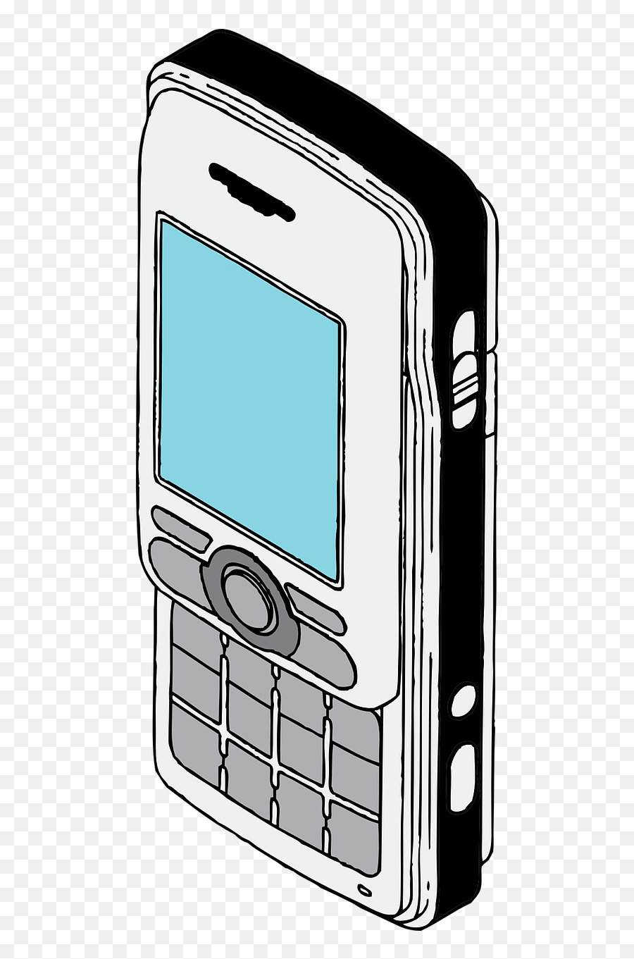 Cellphone Mobile - Cell Phone Retro Drawing Emoji,More Emojis For Iphone 6