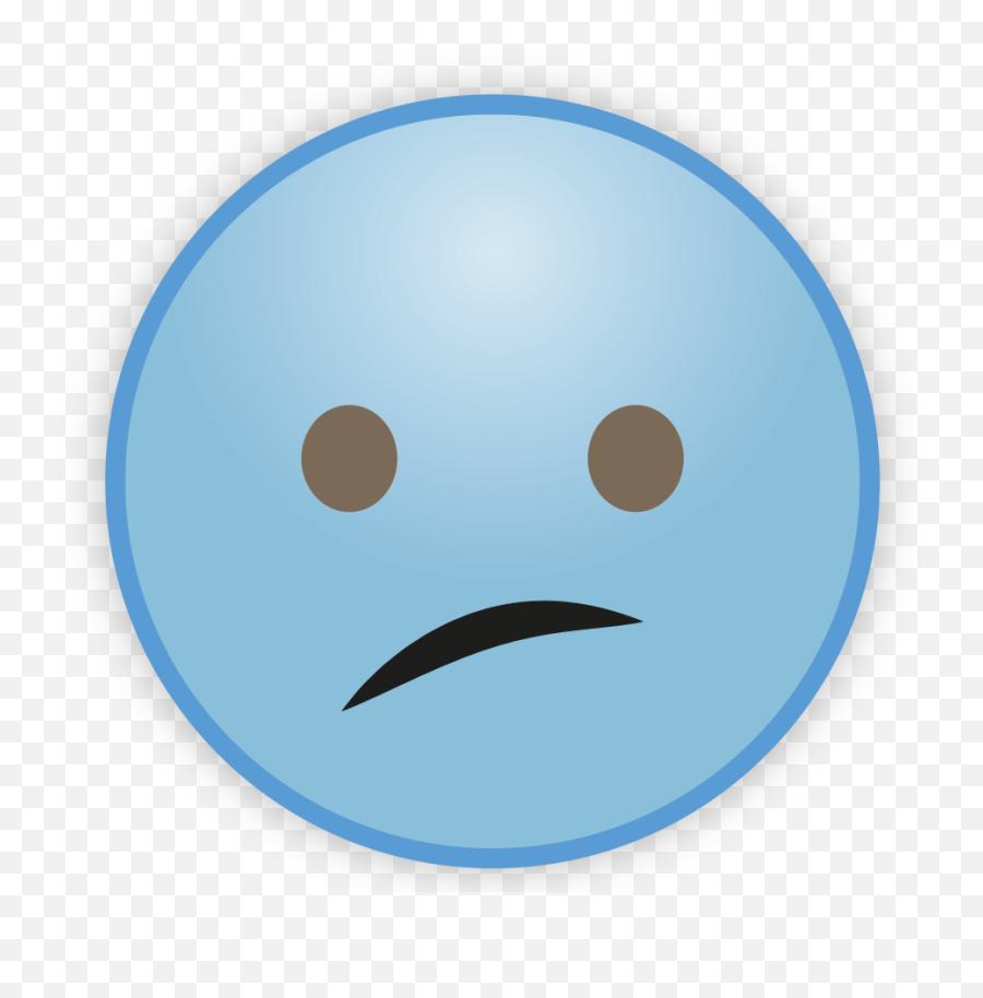 Sky Blue Emoji Png Transparent Image - Smiley
