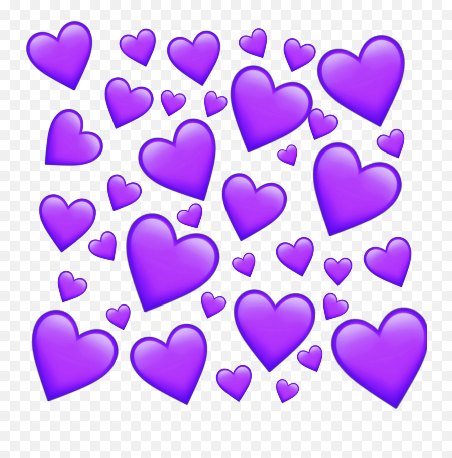 Download Heart Emotion Emoticon Purple Purpleheart Tumblr - Heart Emoji Background Transparent