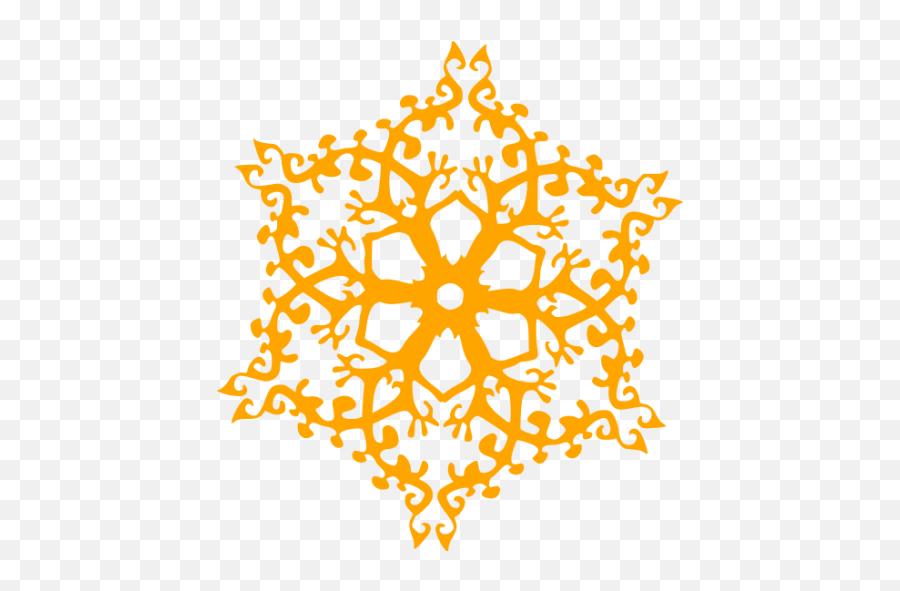 Orange Snowflake 8 Icon - Maroon Snowflake Png Emoji,Snowflake Sun Leaf Leaf Emoji