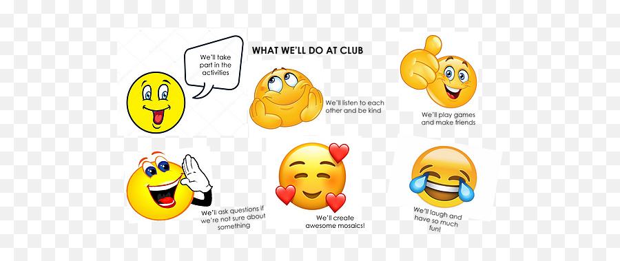 After School Club Arts Community Mosaic Kits Murals - New Symbol Emoji,Half Smile Emoji