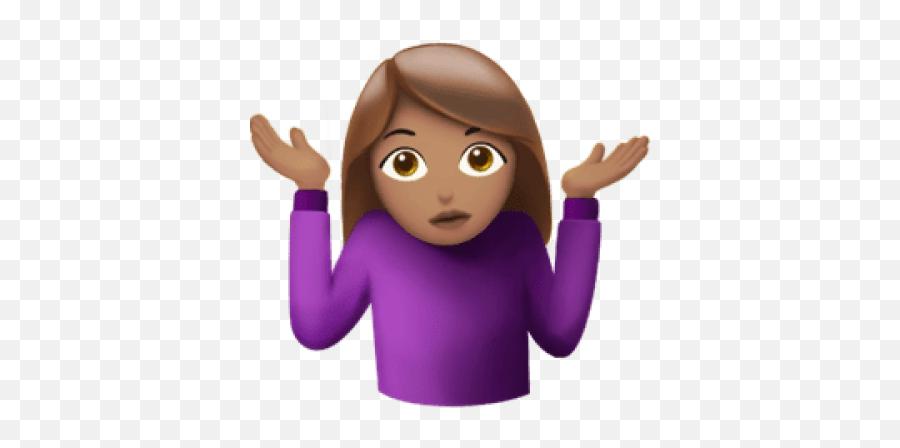 Download Free Png Shrug - Shrugging Shoulders Emoji Gif