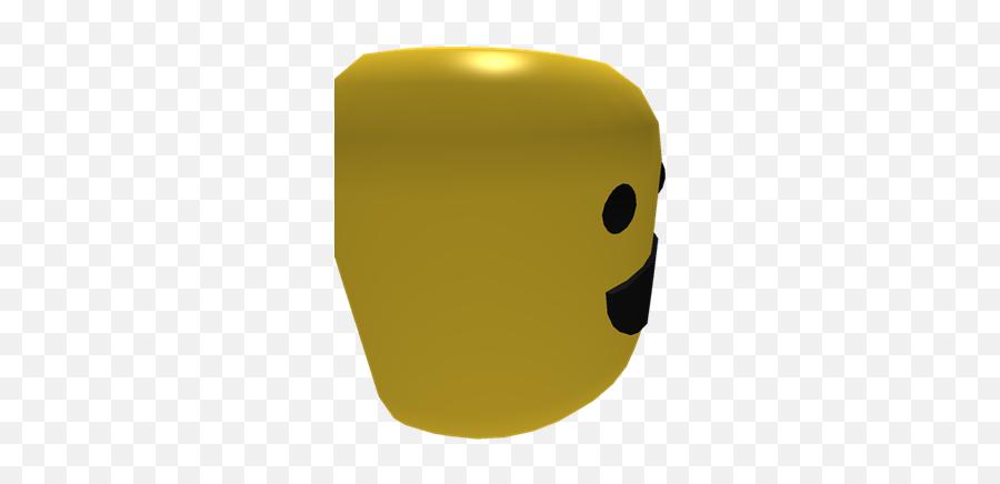 Half Roblox Noob Face - Illustration Emoji,Half Smile Emoticon